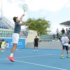 Rafael Nadal At Kids Clinic In Abu Dhabi (8)
