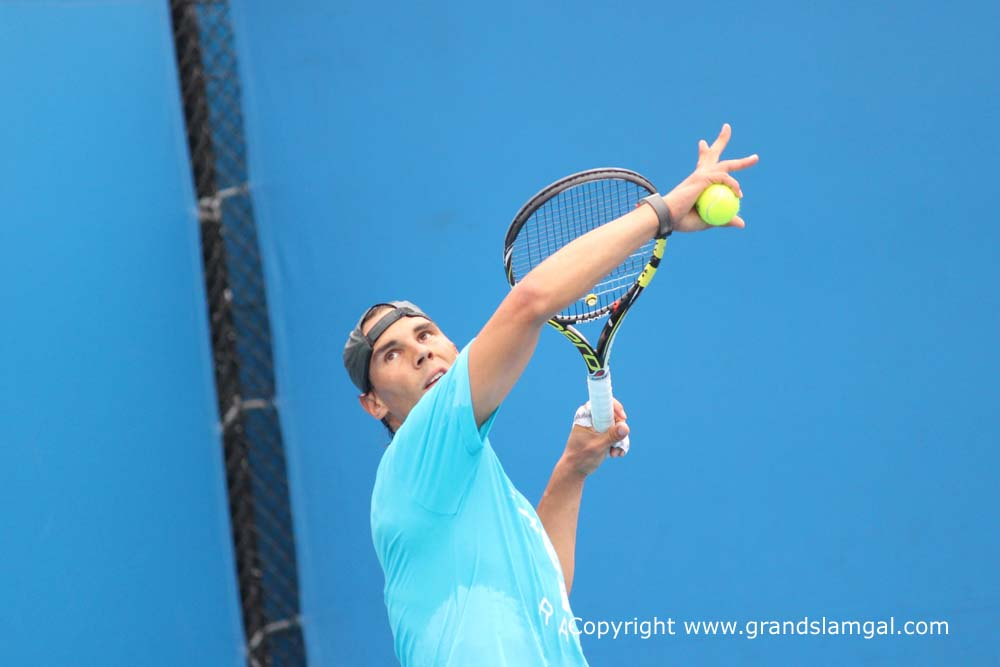 PHOTOS: Rafael Nadal practices ahead of quarterfinal with ...