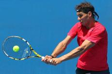 Australian Open 2014 Rafael Nadal practice session (4)