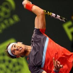 Rafa vs Gael Monfils Doha Final AFP Marwan Naamani