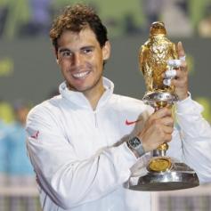 Rafa vs Gael Monfils Doha Final reuters Ahmed Jadallah 2