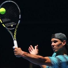 Rafael Nadal practising Australian Open 2014 (13)