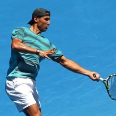 Rafael Nadal practising Australian Open 2014 (19)