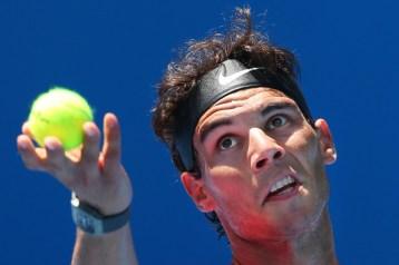 Rafael+Nadal+2014+Australian+Open+Practice+Michael+Dodge+6