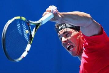 Rafael+Nadal+2014+Australian+Open+Practice+Michael+Dodge+7