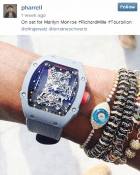 Instagram: @Pharrell has the same watch as Rafa