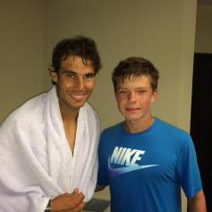 Rafa and Stefan Kozlov after practice in Miami. Photo: Twitter / Greg Sharko