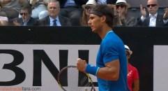 Nadal v Djokovic Rome Final 2014 5