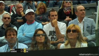 Rafael Nadal's girlfriend and parents Rome 2014