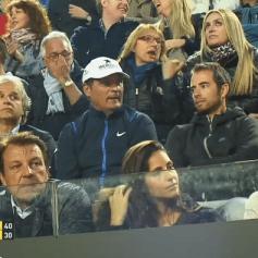 Rafael Nadal's girlfriend Maria Francisca Perello with Rafa's parents
