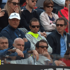 Team Nadal at Rome Masters R3 - Rafael Nadal's girlfriend