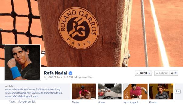 Rafa Nadal Facebook