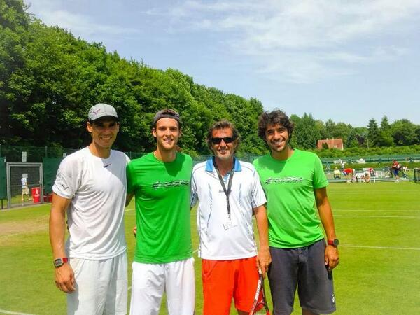Rafael Nadal in Halle Alemania Germany grass season 2014