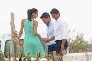 Rafael Nadal and his girlfriend Maria Francisca Perello at Friends' Wedding (3)