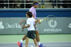 Rafael Nadal v Jo-Wilfried Tsonga Kazakhstan exhibition (10)