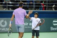 Rafael Nadal v Jo-Wilfried Tsonga Kazakhstan exhibition (11)