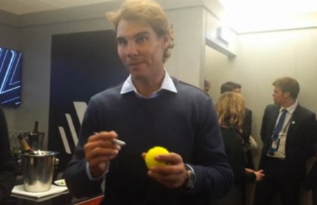 Rafael Nadal in London at World Tour Finals 2014
