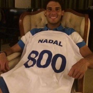 Rafael Nadal's 800th victory (February 19, 2014)