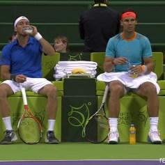 Rafael Nadal Juan Monaco Doha Doubles Final