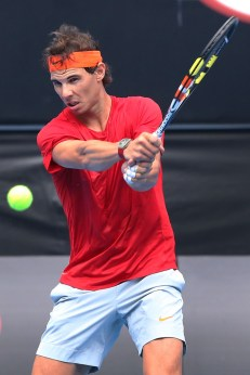 Rafael Nadal Practice Australian Open 2015