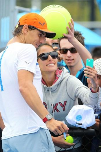 Rafael Nadal selfie fan Australian Open 2015