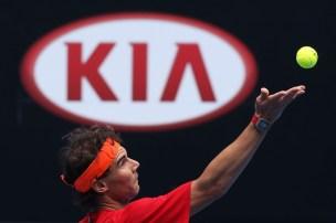 Rafael+Nadal+Practice+Australian+Open+2015