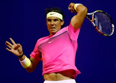 Spain's Nadal returns to Argentina's Arguello during their tennis match at the ATP Argentina Open in Buenos Aires