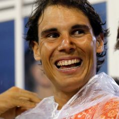 Tennis player Rafael Nadal of Spain attends the annual carnival parade in Rio de Janeiro's Sambadrome,