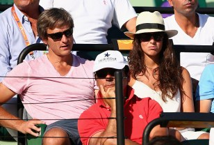 Maria Francisca Perello Carlos Costa Benito Perez cheer on Rafael Nadal at Miami Open 2015