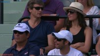 Maria Francisca Perello watches her boyfriend Rafael Nadal at Miami Open 2015