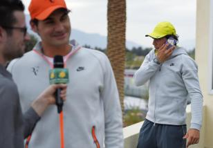 Rafael Nadal and Roger Federer Media Day Indian Wells