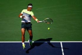 Rafael Nadal plays against Milos Raonic at Indian Wells 2015 (3)