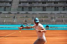 Rafael Nadal entrenando Madrid Open 2015