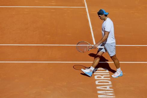 Rafael Nadal first pratice in Madrid 2015 (7)