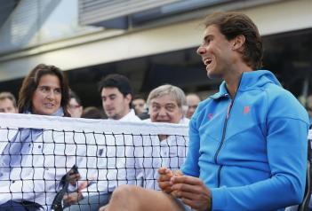 Rafael Nadal participates in Movistar event in Madrid 2015 (2)