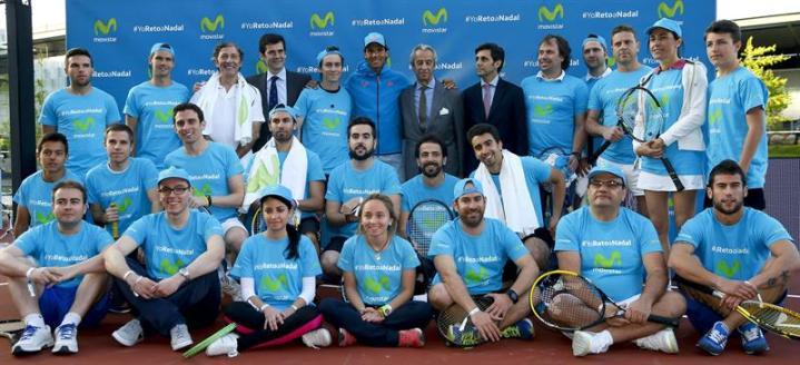 Rafael Nadal participates in Movistar event in Madrid 2015 (6)