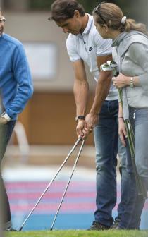 Rafael Nadal visited golf club in Barcelona (1)