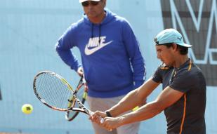 Rafael Nadal in training ahead of Madrid Open second round clash against Steve Johnson (1)