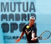 Rafael Nadal practices at Madrid Open 2015