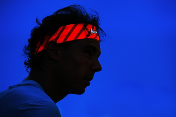 Rafael Nadal of Spain looks on during his men's singles first round match against Alexandr Dolgopolov of Ukraine during day two of the Aegon Championships at Queen's Club on June 16, 2015 in London, England. (June 15, 2015 - Source: Justin Setterfield/Getty Images Europe)
