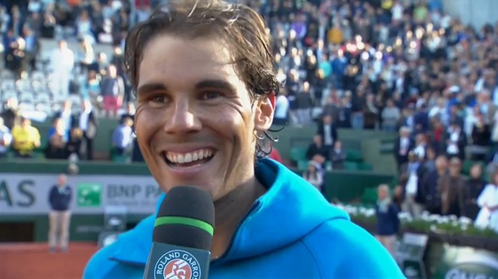 Rafael Nadal talks about his match against Djokovic at French Open