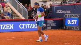 Rafael Nadal in action at Hamburg vs Jiri Vesely