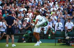 LONDON, ENGLAND - JULY 02: Rafael Nadal of Spainleaves the court dejected after losing his Gentlemens Singles Second Round match against Dustin Brown of Germany during day four of the Wimbledon Lawn Tennis Championships at the All England Lawn Tennis and Croquet Club on July 2, 2015 in London, England. (Photo by Ian Walton/Getty Images)