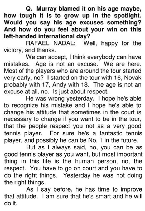 Nadal talks about the Kyrgios incident (2)