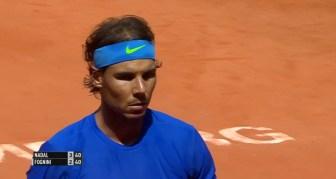 Rafael Nadal in action against Fabio Fognini in the Hamburg final 2015 (5)