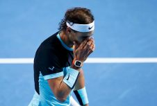 Rafael Nadal of Spain reacts during his match against Croatia's Marin Cilic at the Swiss Indoors ATP men's tennis tournament in Basel, Switzerland October 30, 2015. REUTERS/Arnd Wiegmann