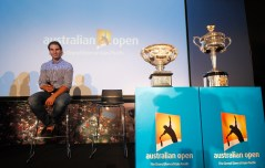 SHANGHAI, CHINA - OCTOBER 13: Rafael Nadal of Spain attends the Australian Open 2016 Launch at The Shook on October 13, 2015 in Shanghai, China. (Photo by Hu Chengwei/Getty Images for Tennis Australia)