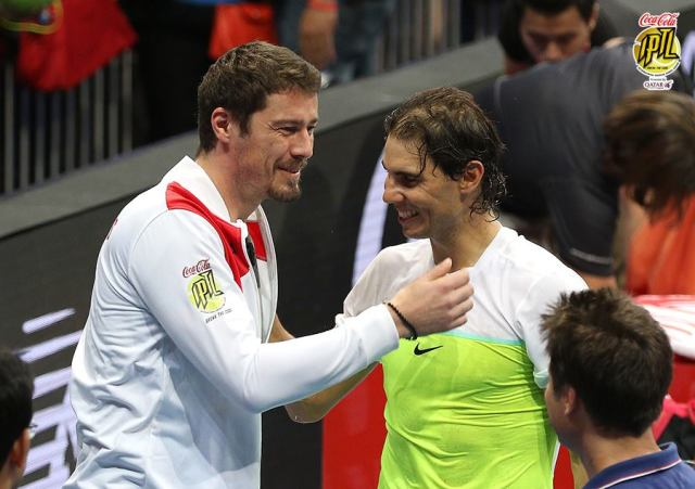Marat Safin and Rafael Nadal IPTL Manila Philippines 2015