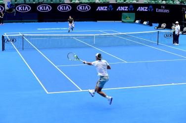 Rafael Nadal during a practice session, 15 January 2016. - Ben Solomon/Tennis Australia