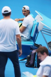 Rafael Nadal during a practice session ahead of the 2016 Australian Open at Melbourne Park on January 15, 2016 in Melbourne, Australia. (Michael Dodge/Getty Images)